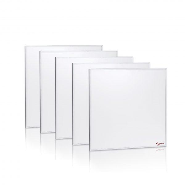 set 5 pannelli radianti ad Infrarossi Raffaello serie standard riscaldamento elettrico 400W 60x60