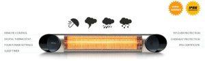 riscaldatore esterno bar locali pubblici ip55 acqua pioggia