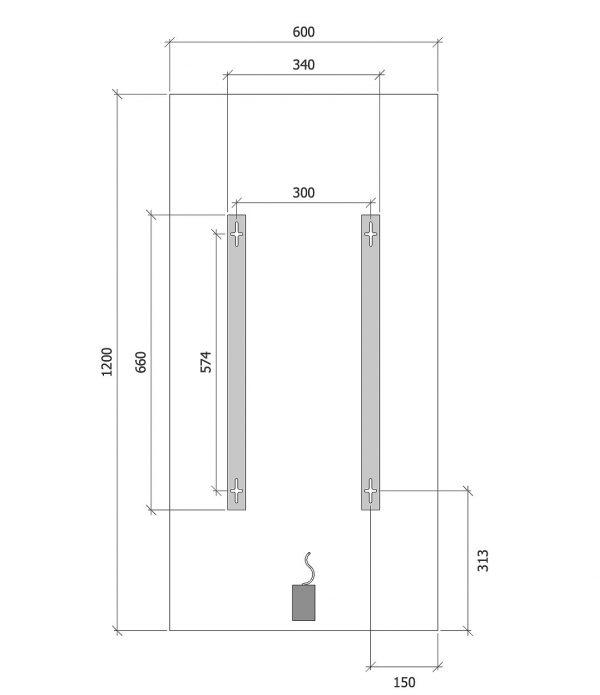 quote misure pannelli Infrarossi Raffaello vetro 60x120