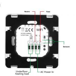 Schema collegamento Termostato per riscaldamento elettrico
